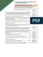 Checklist Altas Honorarios