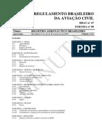 Anexo RBAC Numero 47 - Registro Aeronautico Brasileiro