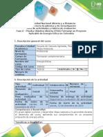 Guía de Actividades y Rubrica de Evaluación - Fase 6 Final - (POA) Formular Un Proyecto Aplicable de Energía Eólica en Colombia