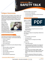 Dangers of Fatigue in the Workplace