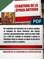 La Literatura de La Época Antigua