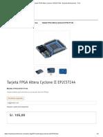 Tarjeta FPGA Altera Cyclone II EP2C5T144 - Naylamp Mechatronics - Perú