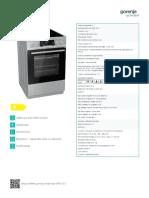 Specificatii Tehnice Aragaz Electric EC5351XA