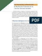 Influencia de la Ilustración, la revolución Industrial y la Revolución Francesa en la construcción de las Ciencias Sociales