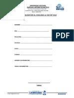 Formato de Inscripcion La Voz Net 2019