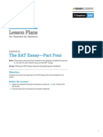 PDF Official Sat Practice Lesson Plan Essay Part Four