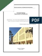 Manual de Procedimientos Tecnicos de Las Direcciones Regionales Del Snpp