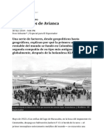 Los 100 años de Avianca