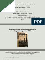 INDUSTRIALIZACION EN BOGOTA:1830-1930