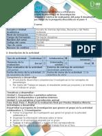 8.Guías de Actividades y Rúbrica de Evaluación Del Paso 8 Desarrollar La Investigación Que Surge de La Pregunta Discutida en El Paso 4