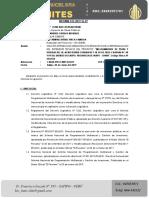 Informe 015 - Pistas 28 de Julio