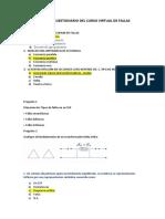 Consolidado de Cuestionario Del Curso Virtual de Fallas