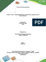 Unidad 2-Tarea 3 - Biodegradabilidad de Contaminantes y Seguimiento de La Biorremediacion