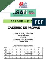 Caderno de Provas SSA 2 Fase - 1 Dia