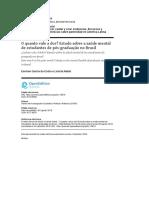 O Quanto Vale a Dor Estudo Sobre a Saúde Mental de Estudantes de Pós-graduação No Brasil