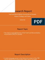 TRC Research Report Presentation