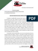 CARTA DAS FAVELAS PELA VIDA E CONTRA AS OPERAÇÕES
