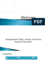 5.Group-E,Topic- History of Primary Teachers Education