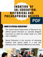 Foundation of Special Education 1
