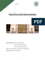 Noticia Proyección Macroeconómica