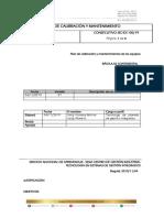 BC-PCM Plan de Calibración y Mantenimiento