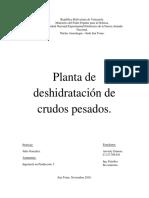 planta de deshidratacion de crudos pesados