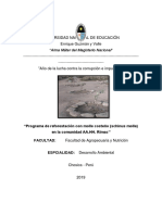 Programa de Reforestación Con Molle Costeño (Schinus Molle) en La Comunidad AA.hh. Rímac