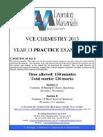 [VCE Chemistry] 2013 LisaChem Unit 1 Exam and Solutions