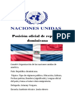 Posición Oficial de República Dominicana (Arianny)