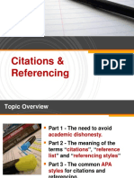 citation and referencing
