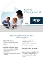 Nursing Informatics 101
