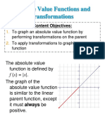 Absolute Value and Transformations