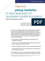 "De Jong, M. & Van Dijk, M. (2015). ""Disrupting Beliefs a New Approach to Business Model Innovation"". McKinsey Quarterly. July"