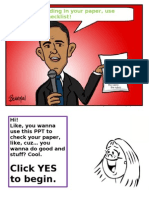 Ppt Paper Checklist Revised Fall 2010