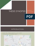 Thesis Synopsis- Vivedha