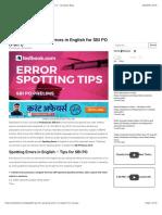 Tips for Error Spotting