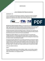 Normas de Infraestructura Residencial de Telecomunicaciones