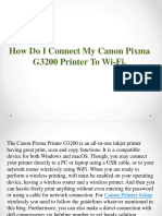 How Do I Connect My Canon Pixma to Wifi
