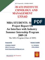 Final MBA SIP Project By JITENDRA PANDEY