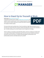 How to Stand Up for Yourself at Work - ProjectManager.com