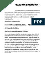 DESCODIFICACIÓN BIOLÓGICA - ASMA