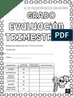 examen 5°  I TRIMESTRE