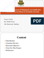 Partial Replacement Of Metakaolin And GGBS With Concrete And Its Effects On Durability Concrete