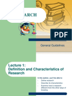 Lecture 2-Characteristics of Research