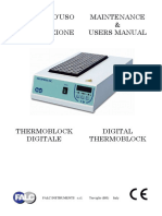Maintenance & Users Manual Manuale d Uso e Manutenzione Digital Thermoblock Thermoblock Digitale. Falc Instruments s.r.l. Treviglio (Bg) Italy