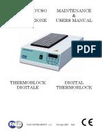 Maintenance & Users Manual Manuale d Uso e Manutenzione Digital Thermoblock Thermoblock Digitale. Falc Instruments s.r.l. Treviglio (Bg) Italy