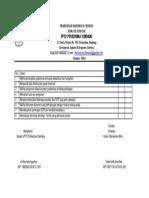 6. 1. 5. 6 DAFTAR CEKLIS Instrument Kaji Banding Edit