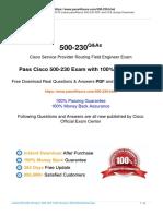 Cisco Service Provider Routing Field Engineer 500-230 Exam Dumps New PDF