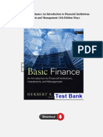 Test Bank For Basic Finance an Introduction to Financial Institutions Investments and Management 11th Edition Mayo