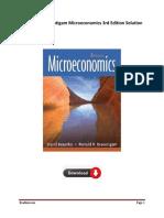 Test Bank Solution For Besanko & Braeutigam Microeconomics 3rd Edition